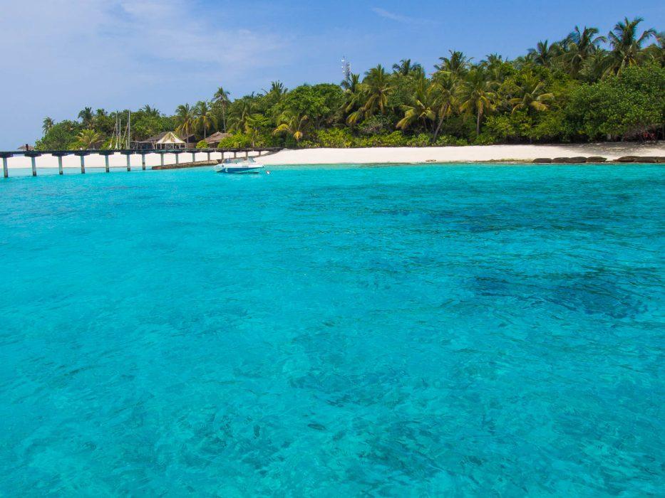 Arriving at Reethi Beach Resort, Maldives