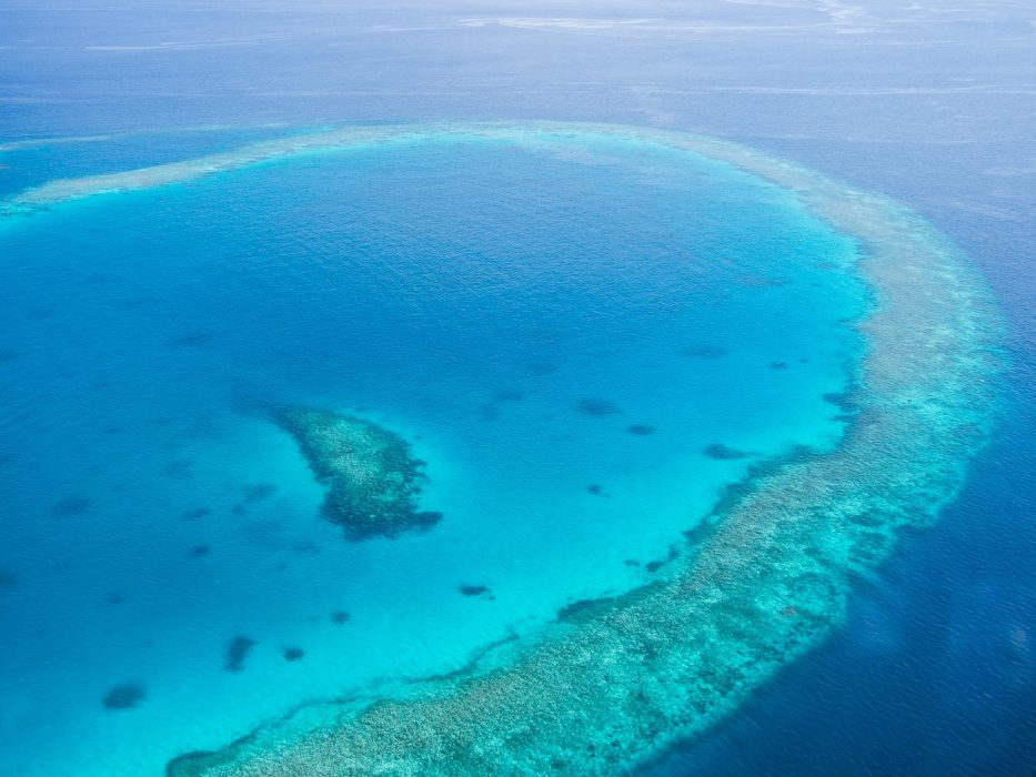 The Maldives from above. Arriving at Reethi Beach Resort by seaplane.
