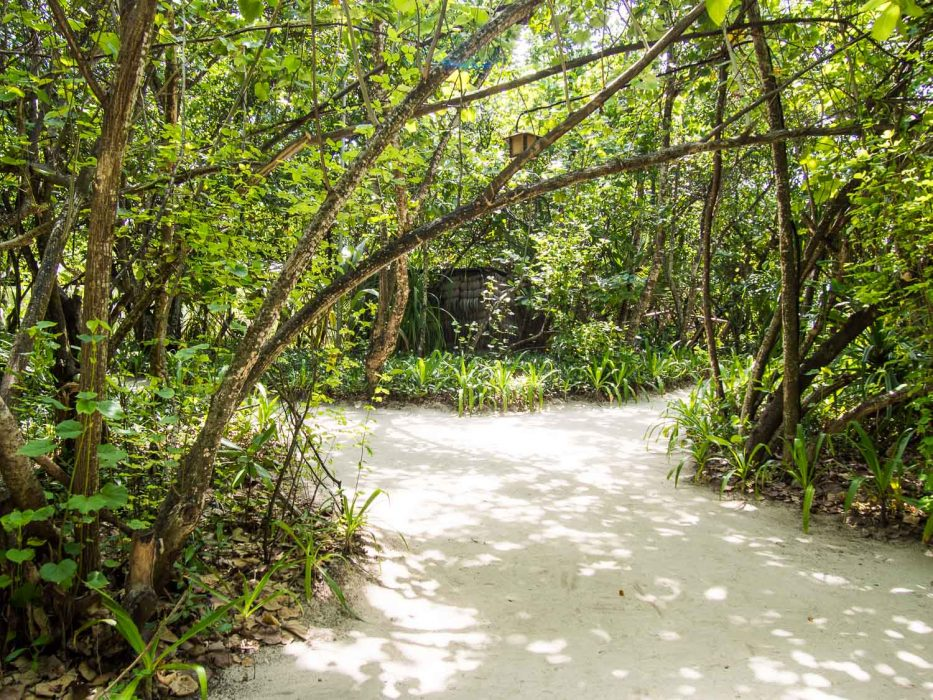 Reethi Beach Resort Review: Sandy trails mean no shoes