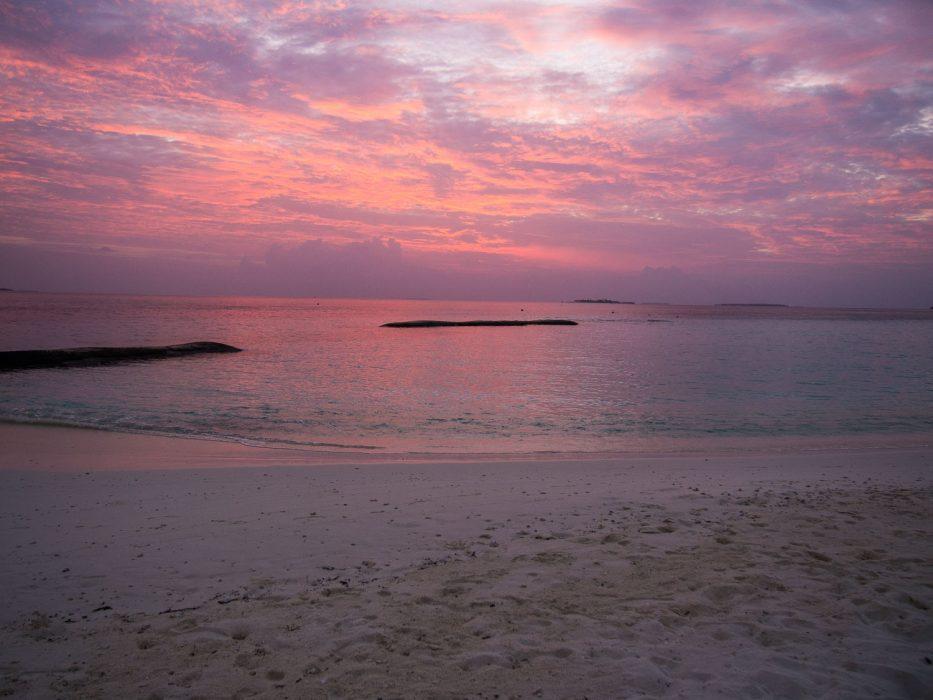 Sunset at Reethi Beach