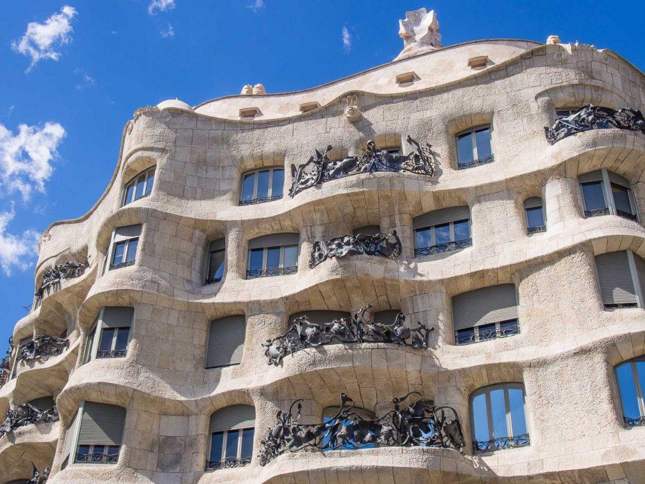 Casa Mila (La Pedrera) on the Gaudi in Context walk in Barcelona