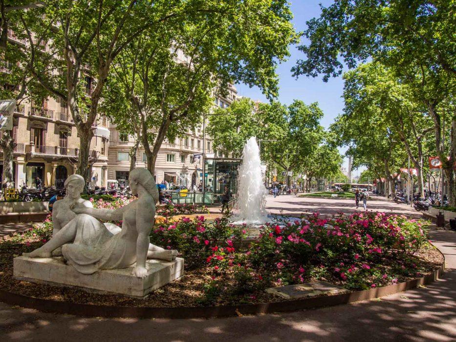 Gracia Barcelona square