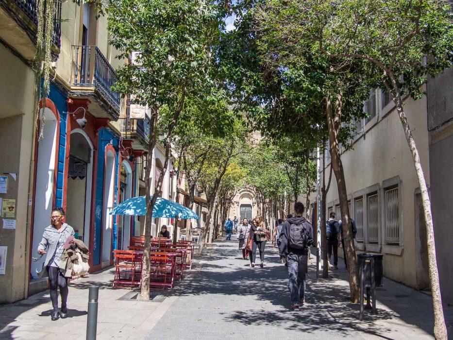 Gracia Barcelona quiet streets