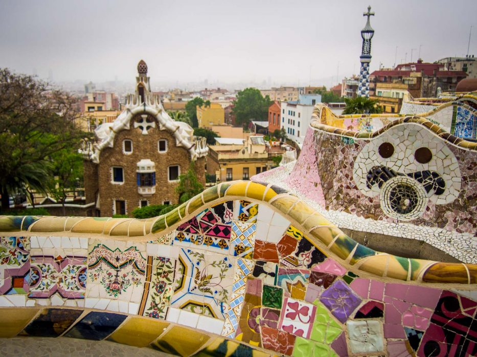 Park Guell in Gracia, Barcelona