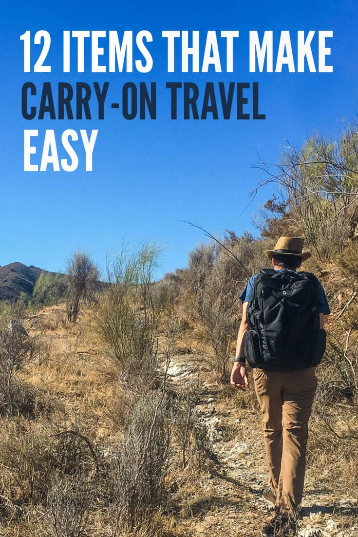 Packing light and travelling with only carry-on luggage doesn't have to be difficult. These are our 12 favourite items that make carry-on travel easy.
