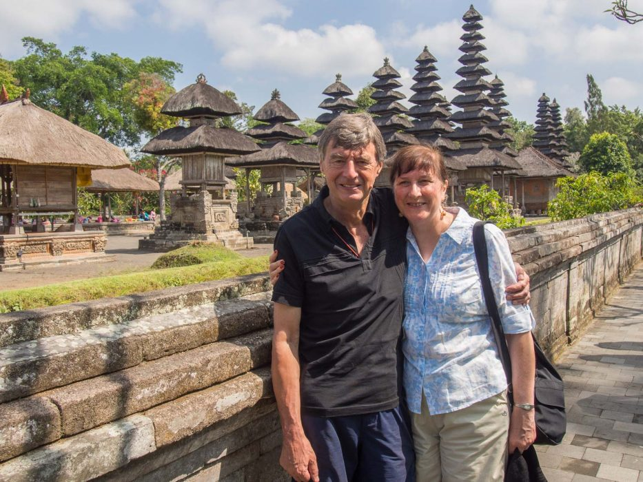 Dave and Simon's mum in Bali