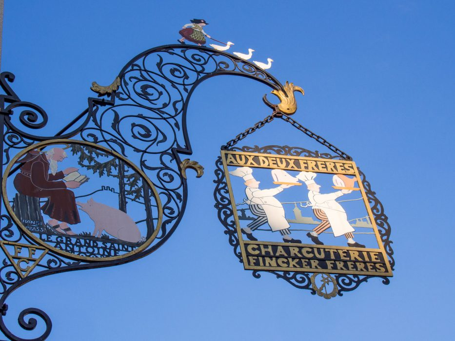 Colmar wrought iron sign