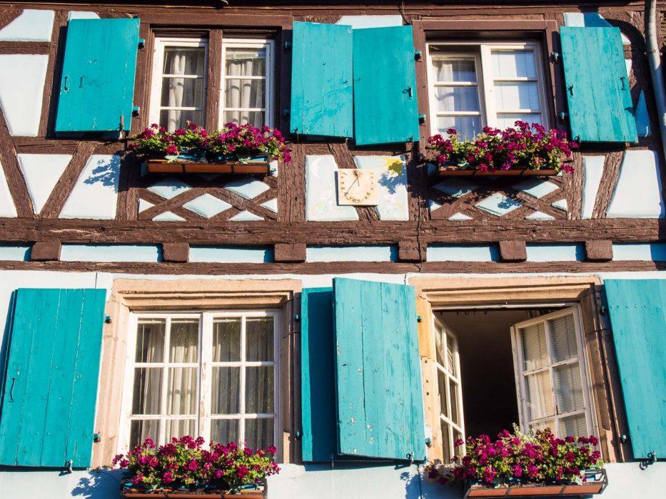 Colmar shuttered windows