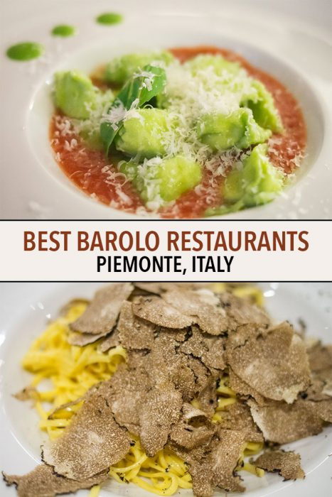Discover where to eat in the Barolo and Langhe wine region in Piemonte, Italy including vegetarian-friendly options and vineyard views.