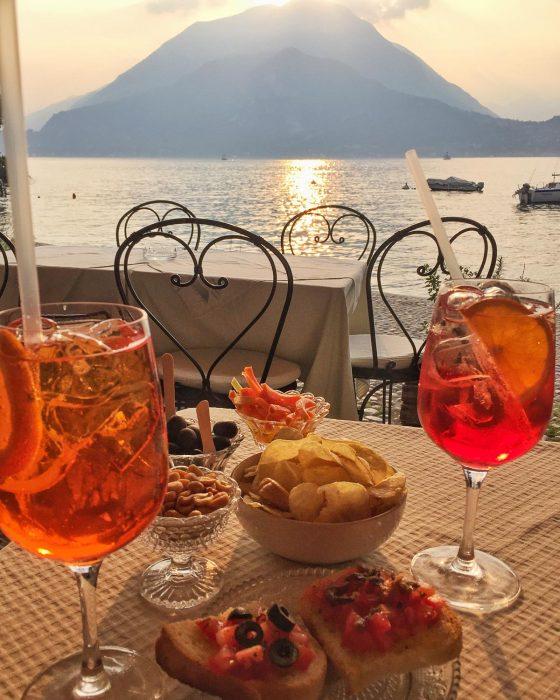 Aperitivo in Varenna, Lake Como