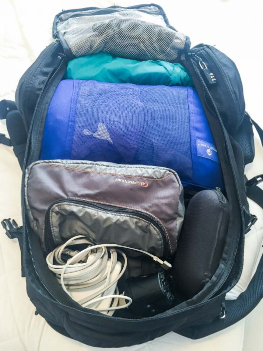 Best carry on backpack: Tortuga Travel Backpack packed