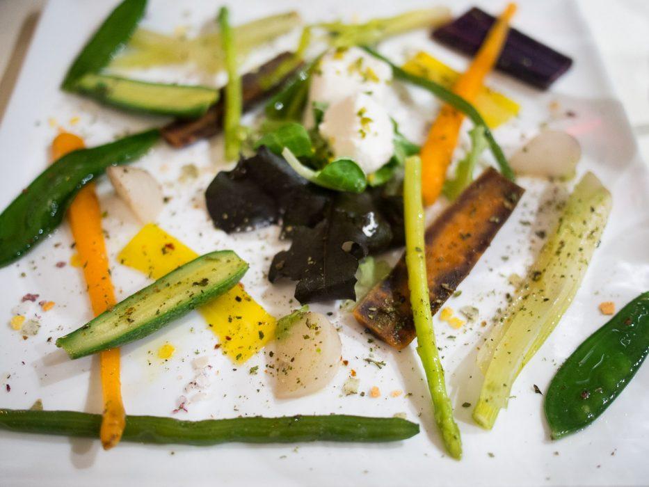 Vegetable starter at Il Cavatappi, Varenna