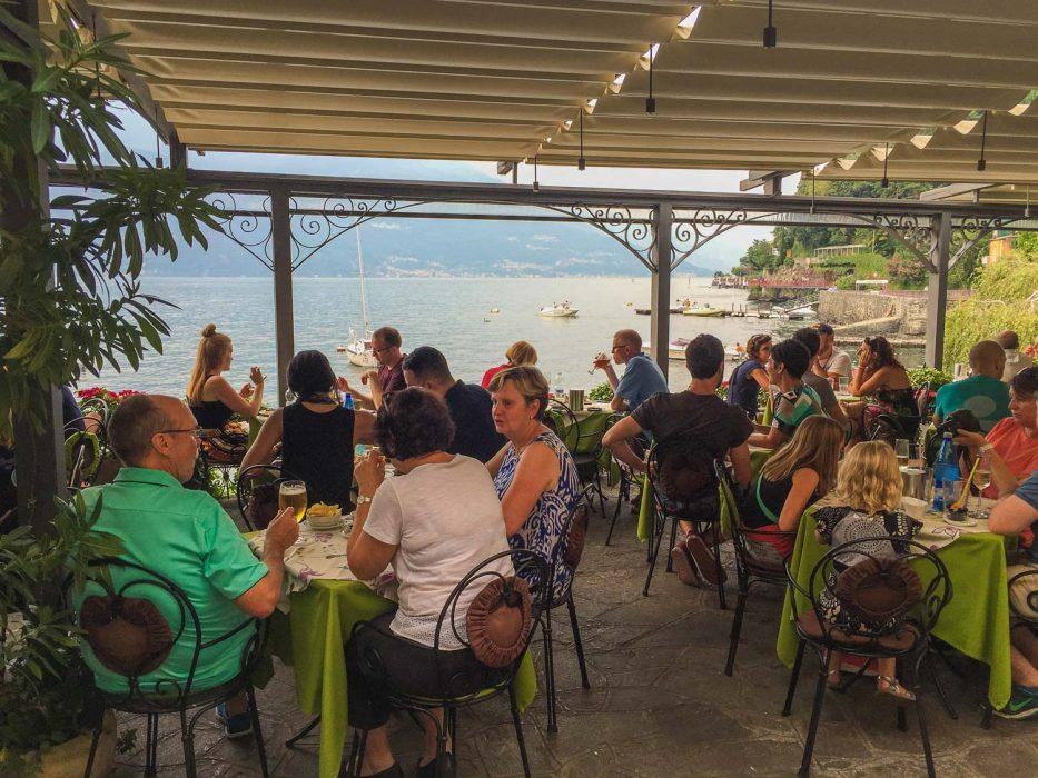 Varenna restaurants along the waterfront