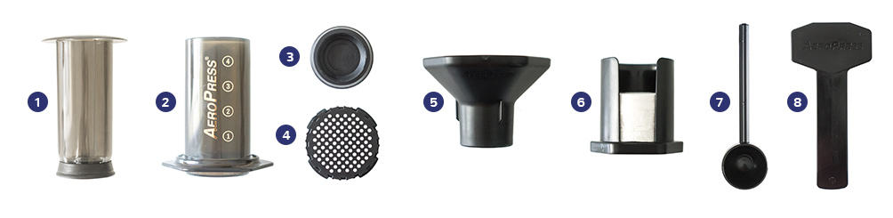 AeroPress components - what parts do you really need for travel?