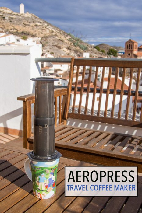 The AeroPress is the best travel coffee maker. It's light, compact, durable, easy to use, and makes the best coffee you've ever tasted.