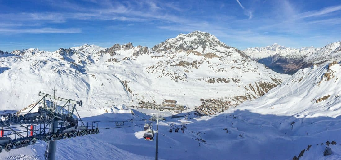 The view from the top of the Toviere gondola, Tignes
