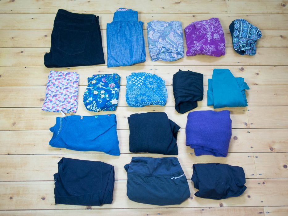 Packing list for four months in Europe from summer to winter