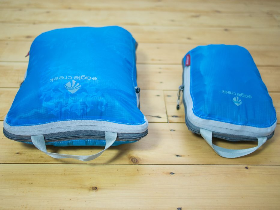 Using packing cubes for packing for Europe