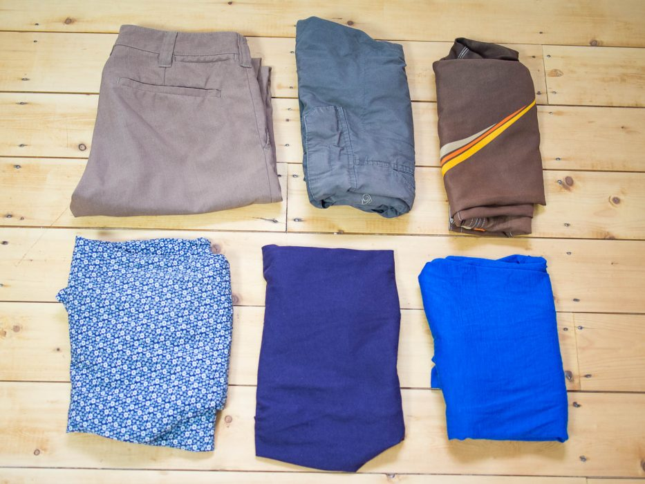 Male packing list for Europe