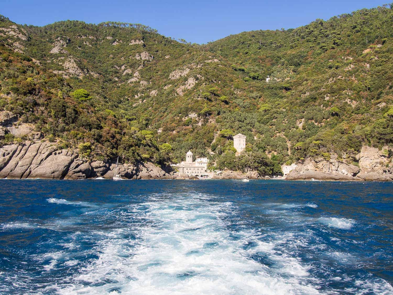 Leaving San Fruttuoso by ferry