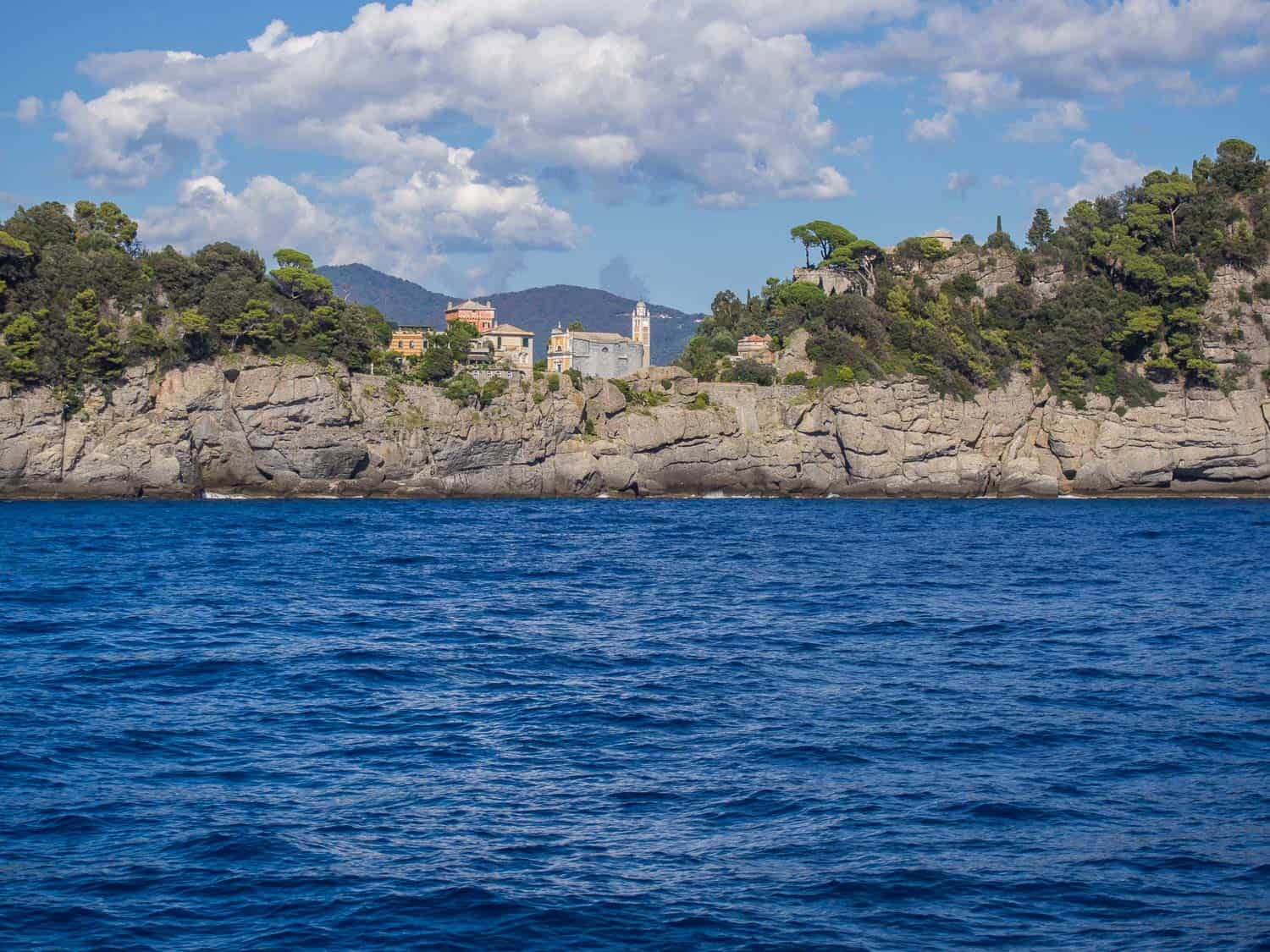 The other side of Portofino from the ferry
