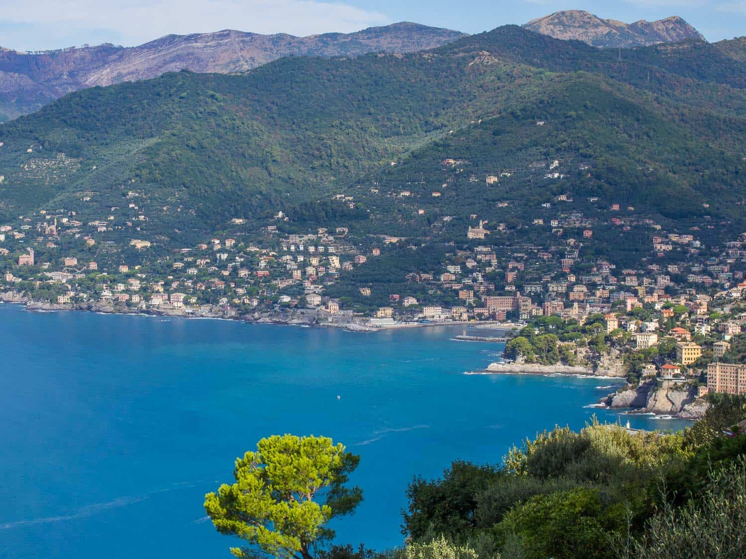 The view from San Rocco, Camogli on the way to San Fruttuoso