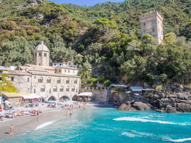 San Fruttuoso, Italy - The hike here from Camogli in the Portofino Regional Park is amazing