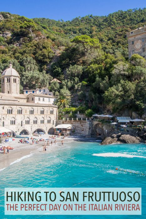 The remote abbey and beach of San Fruttuoso is one of the highlights of the Italian Riviera in Liguria. The hike from Camogli to San Fruttuoso and the ferry back to Rapallo was the perfect day trip.