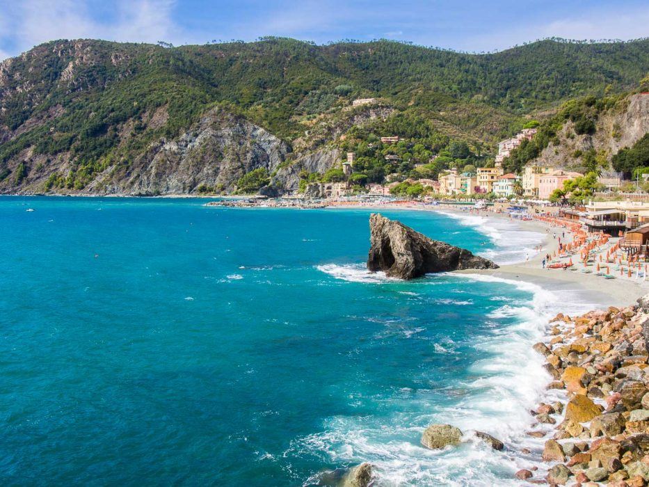 The beach at Monterosso one of the Cinque Terre villages
