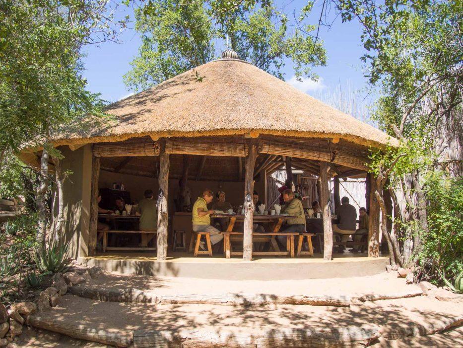 Umlani bushcamp review: the restaurant