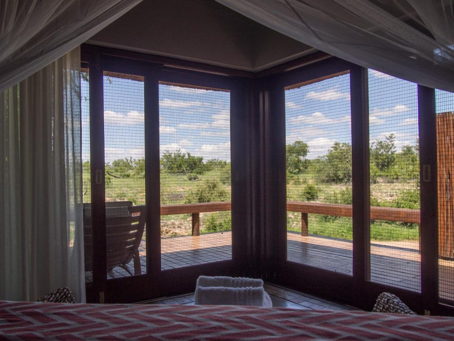 Klaserie Sands River Camp Review - view from our bed