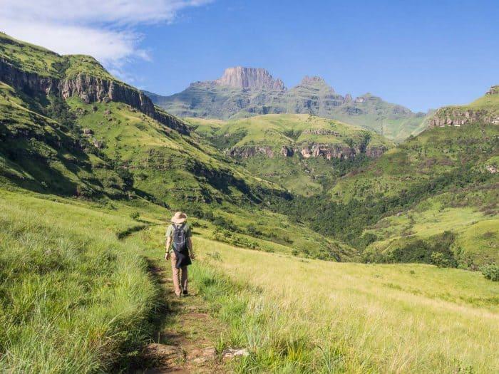 Hiking in the Drakensberg Mountains