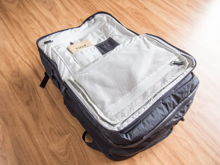 Tortuga Outbreaker backpack review:: the front section