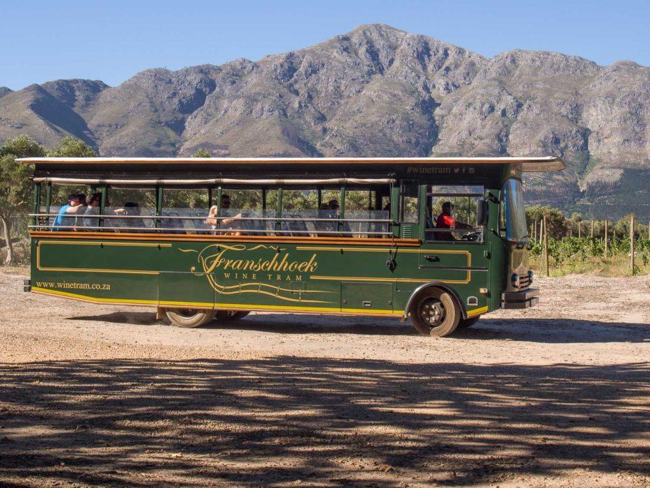 Franschhoek wine tram review - The bus at La Bri winery