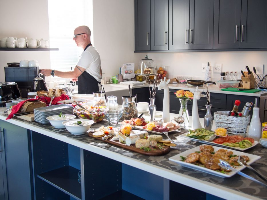 The breakfast buffet at La Providence guesthouse, Franschhoek