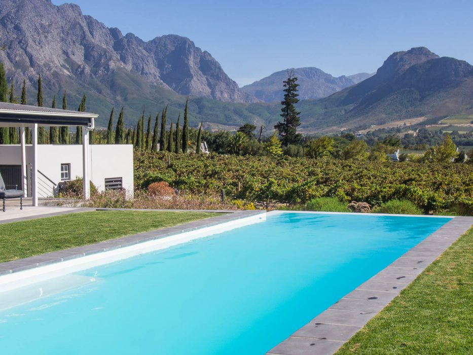 The pool at La Providence guesthouse, Franschhoek