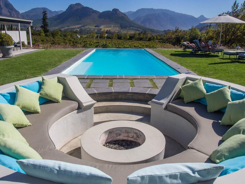 La Providence guesthouse pool in Franschhoek