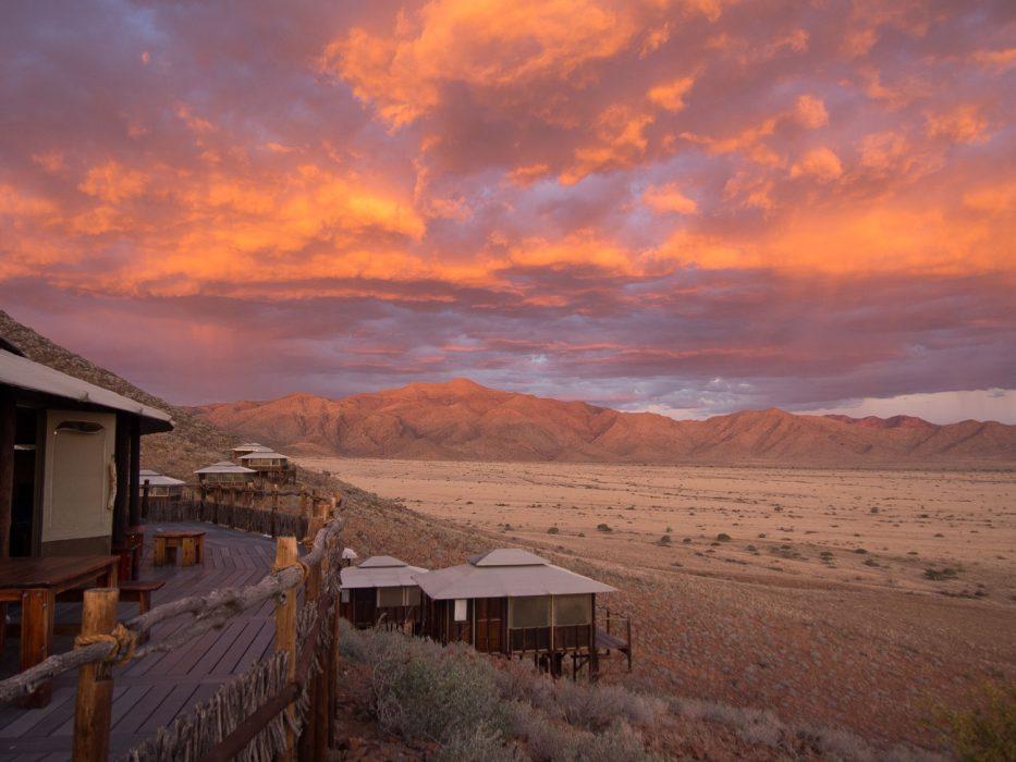 Incredible sunset at Moon Mountain Lodge