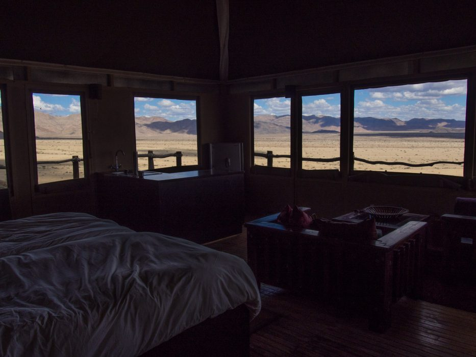 Moon Mountain Lodge, Namibia - view from the tent