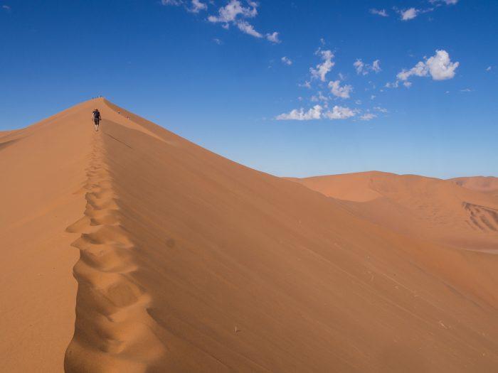 Namibia travel: Climbing Big Daddy Sand Dune at Sossusvlei