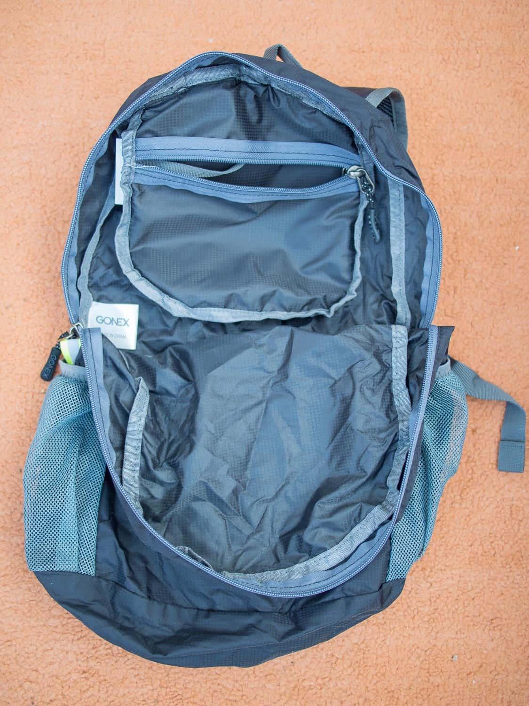 Inside the Gonex Ultralight Travel Backpack