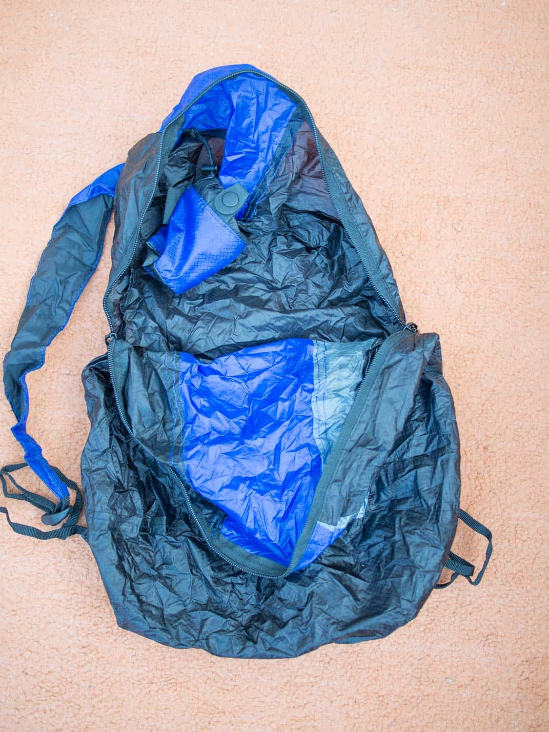 Inside the Sea to Summit daypack
