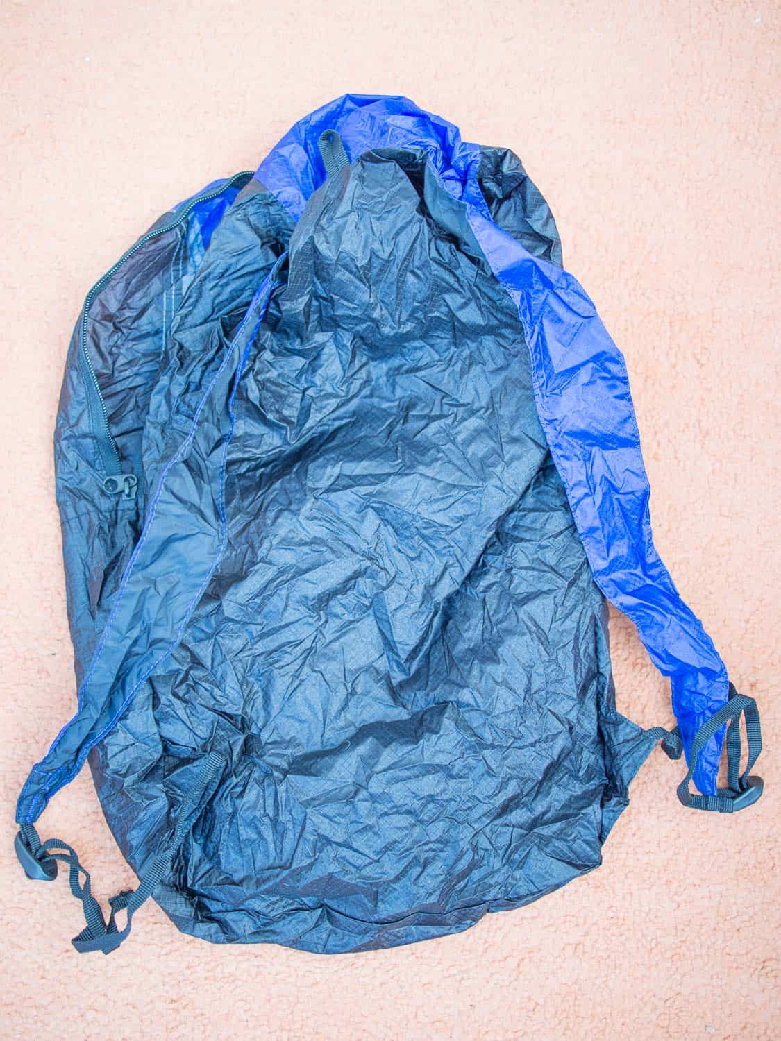 The back of the Sea to Summit daypack