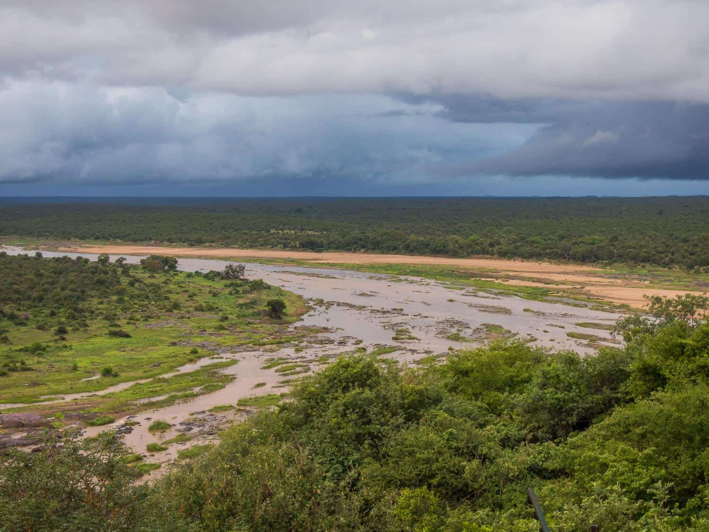 The river below Olifants rest camp in Kruger National Park