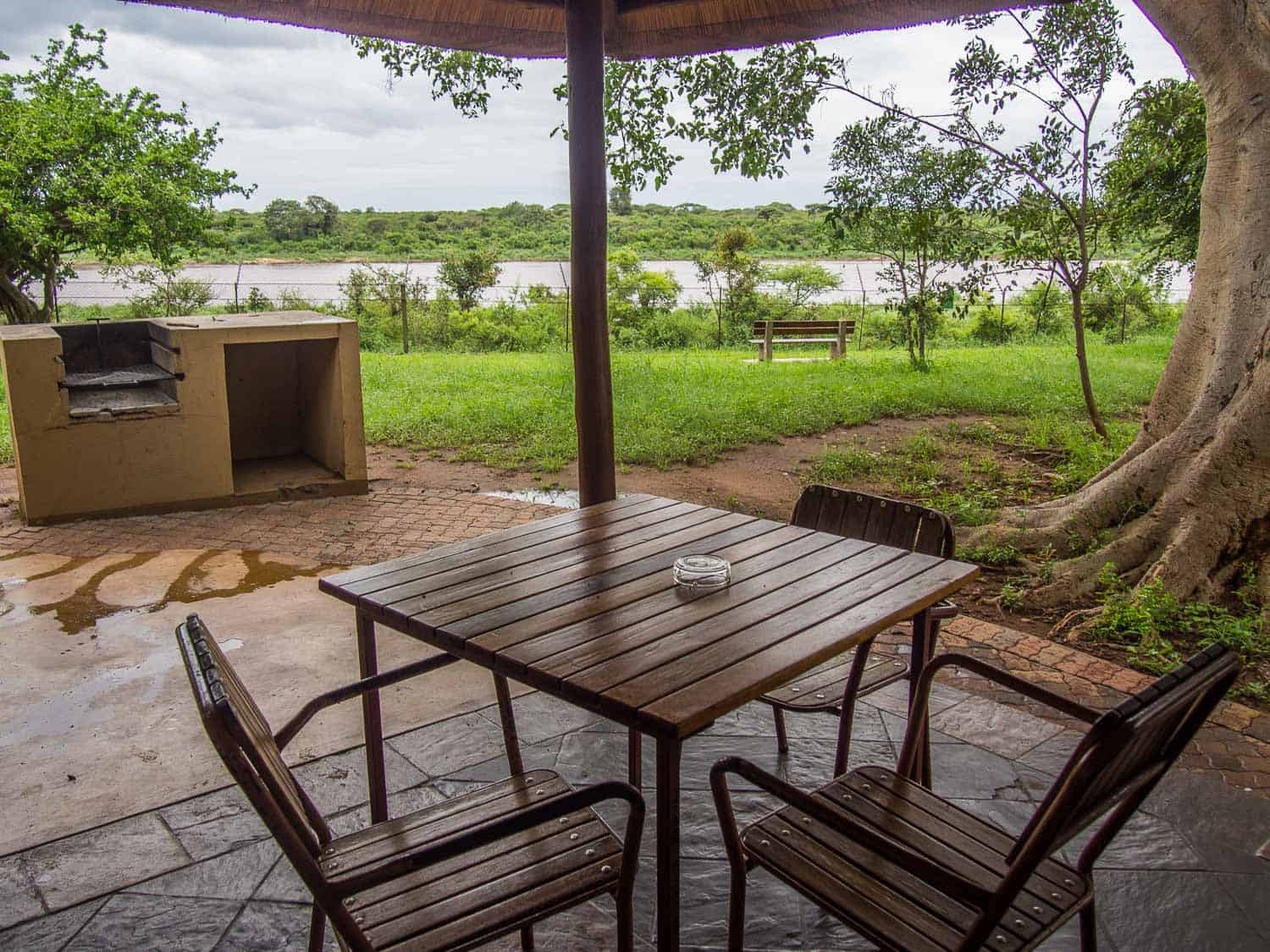 The view from our kitchen/terrace at Lower Sabie on a Kruger self-drive safari