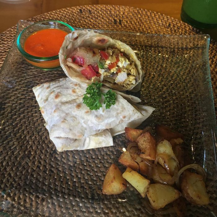 Brekky Burrito at Sage in Ubud (before the class)