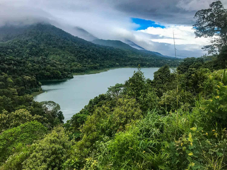 Tamblingan Lake on our Bali motorbike road trip