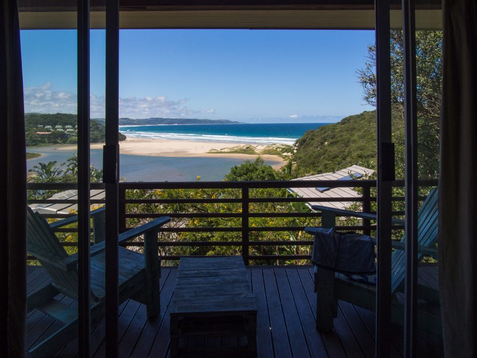 The view from the suite at Buccaneers, Chintsa in South Africa