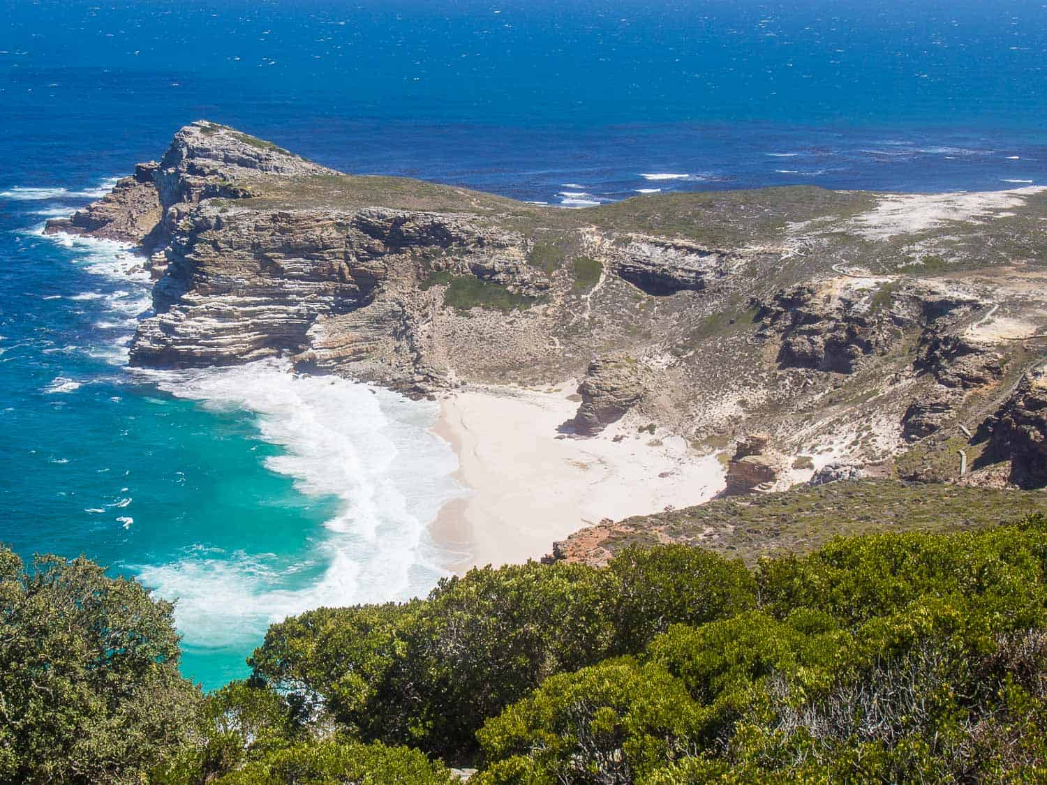 Diaz Beach at Cape Point on the Cape Peninsula drive in South Africa