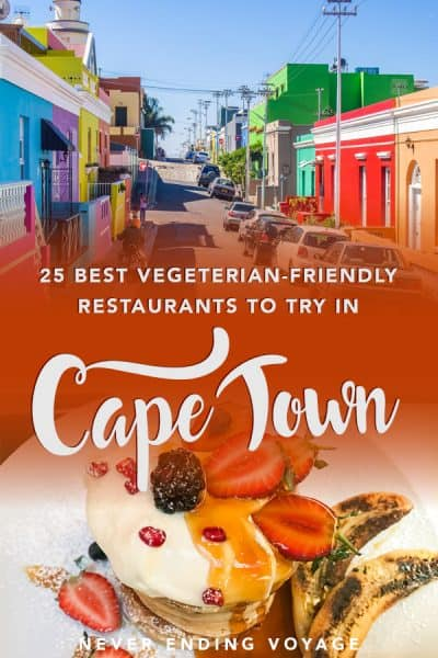 South Africa isn't exactly know for its vegetarian options! But in the land of braai, here are 25 vegetarian-friendly restaurants in Cape Town! #capetown #vegetariantravel #southafrica #southafricatravel